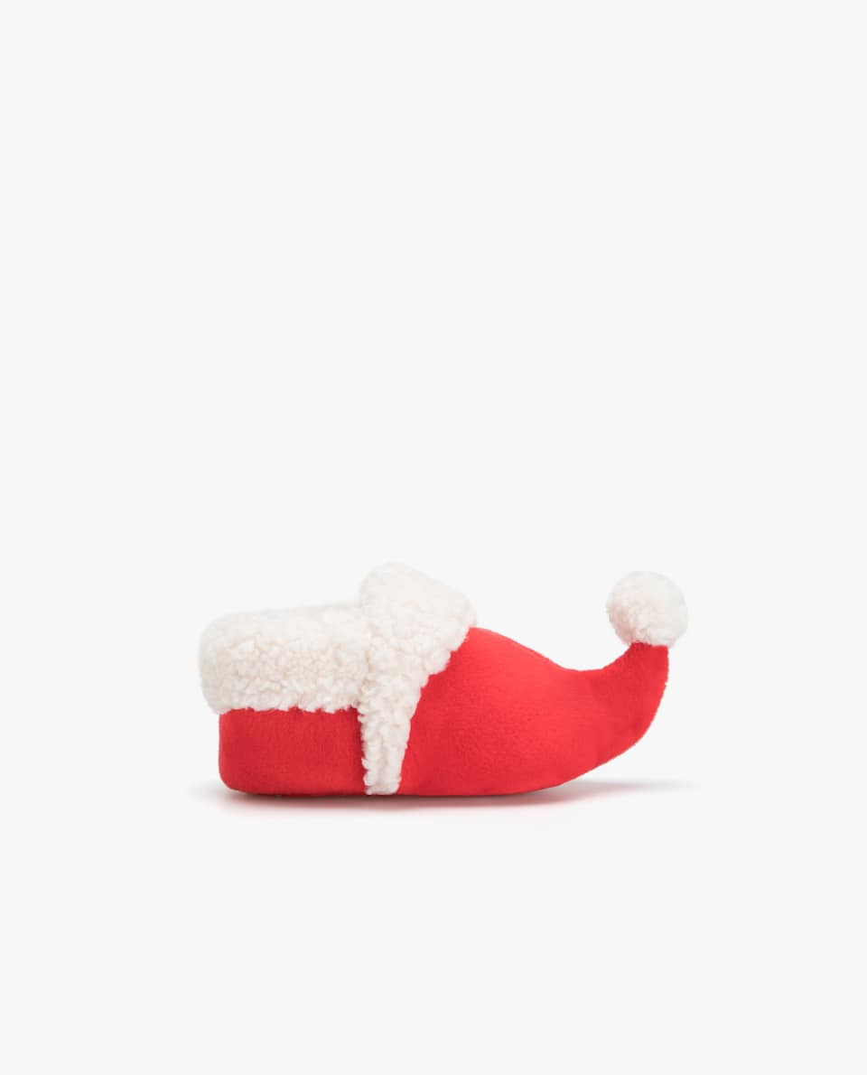 FAUX SHEARLING CHRISTMAS ELF BOOTIES
