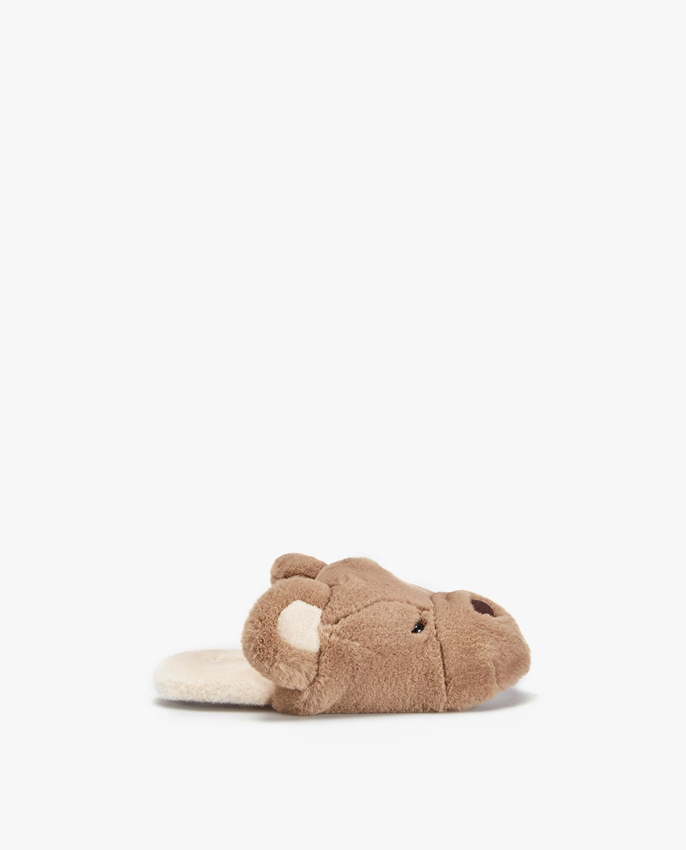 FURRY BEAR MULE SLIPPERS