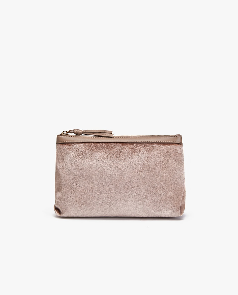 VELVET TOILETRY BAG