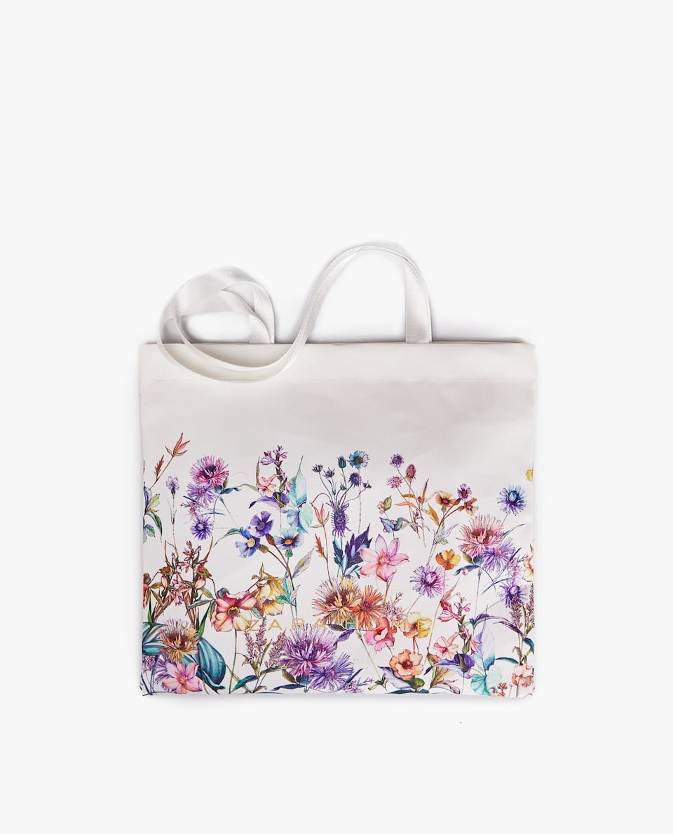 JAPAN EXCLUSIVE COLLECTION 日本限定 FLORAL PRINT FABRIC TOTE BAG