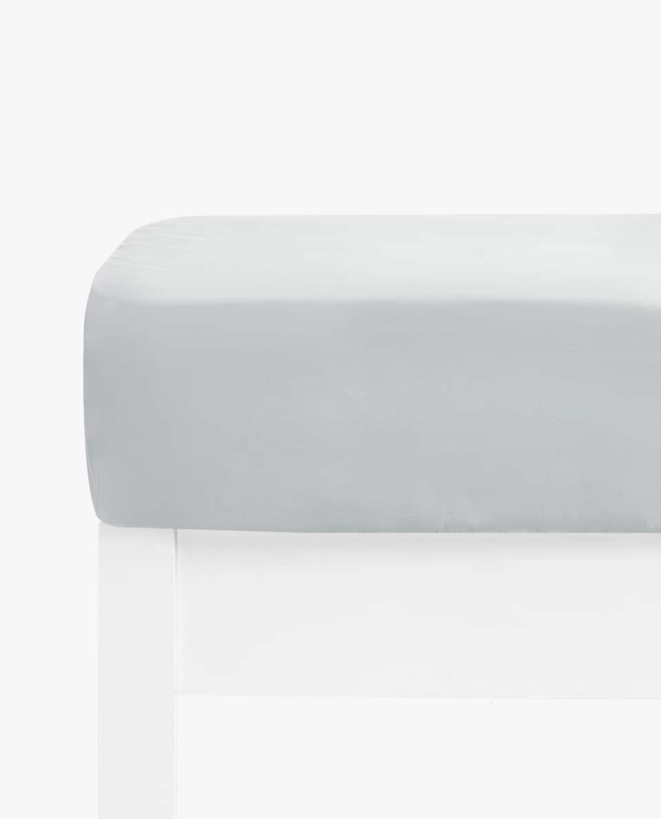 COTTON PERCALE FITTED SHEET (UP TO 11.8