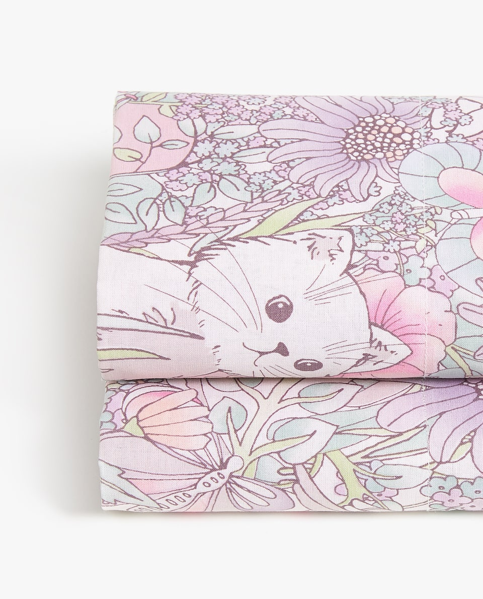 ANIMALS AND FLOWERS FLAT SHEET