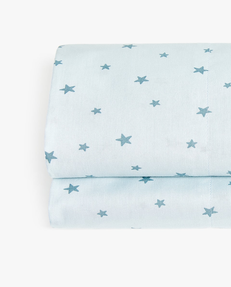BLUE STAR PRINT FLAT SHEET
