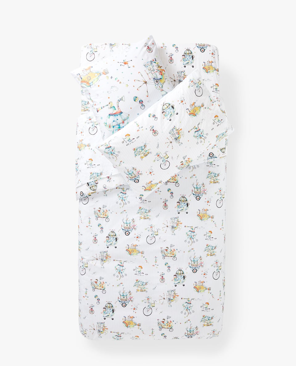 REVERSIBLE DUVET COVER WITH INVENTORS PRINT