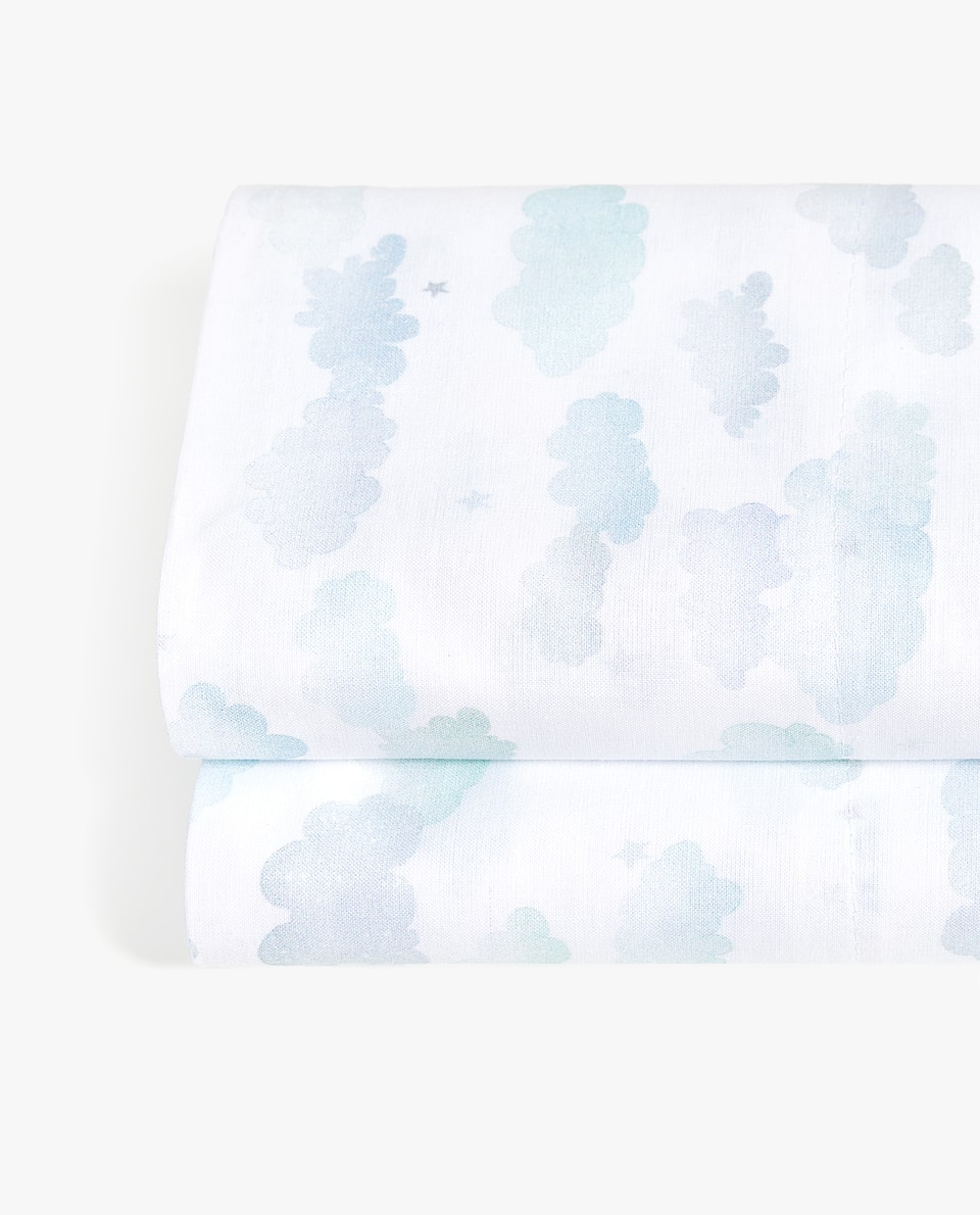 CLOUD PRINT FLAT SHEET