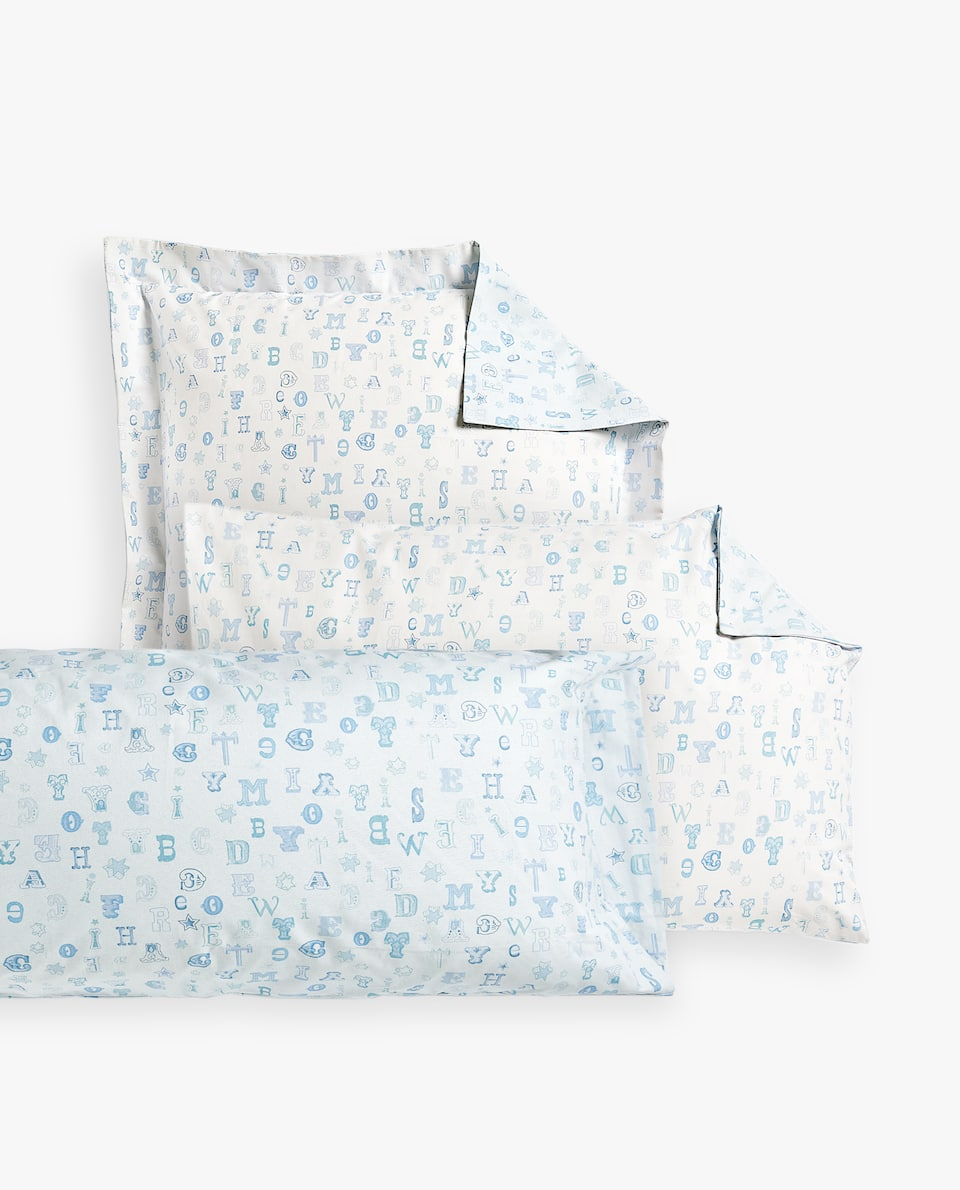 COMBINED LETTER PRINT PILLOWCASE