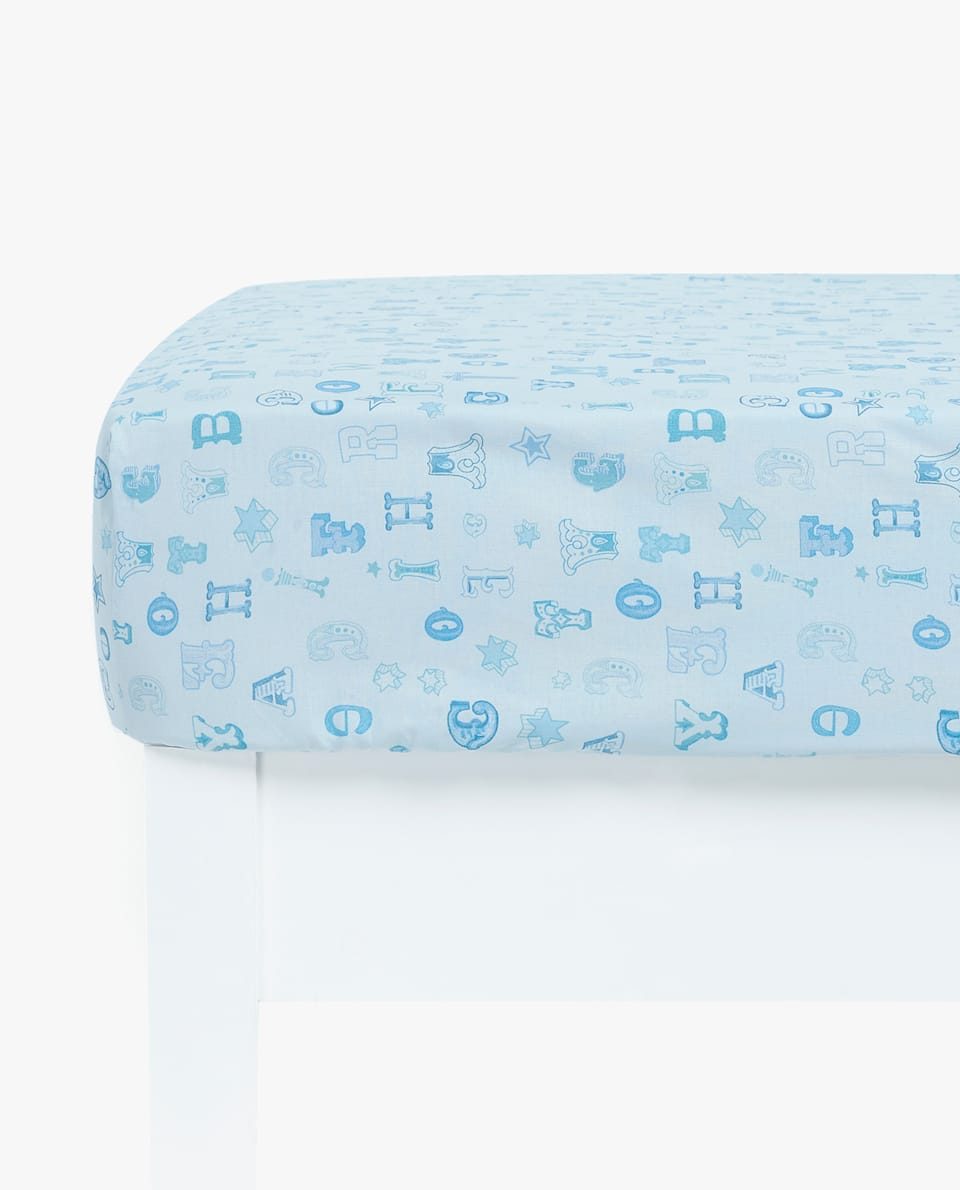 LETTER PRINT FITTED SHEET