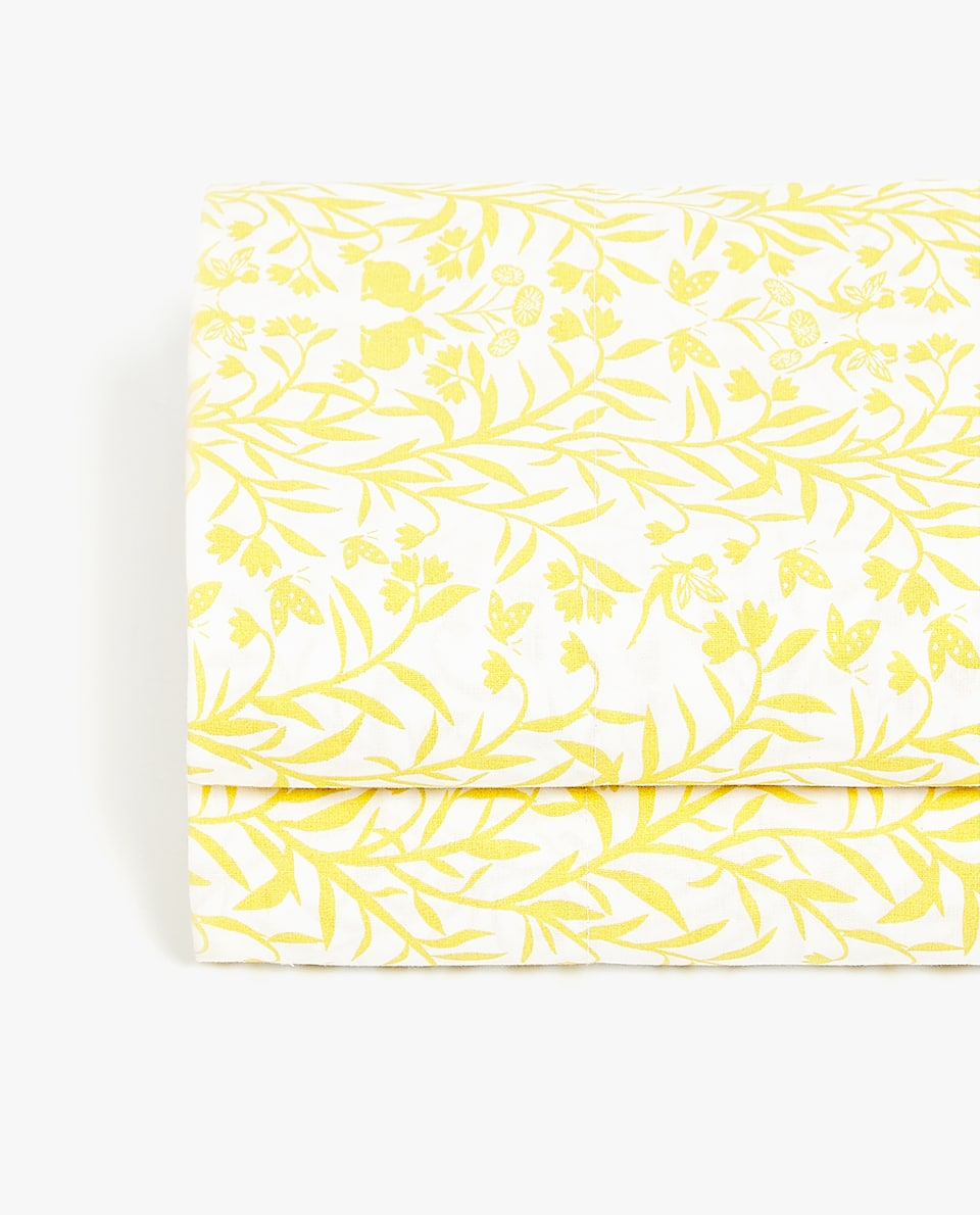 LEAVES PRINT FLAT SHEET