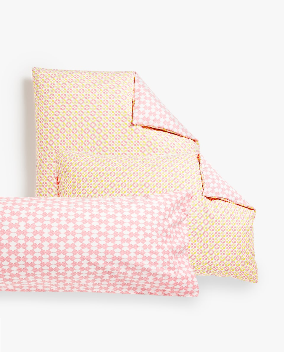GEOMETRIC PRINT PILLOWCASE