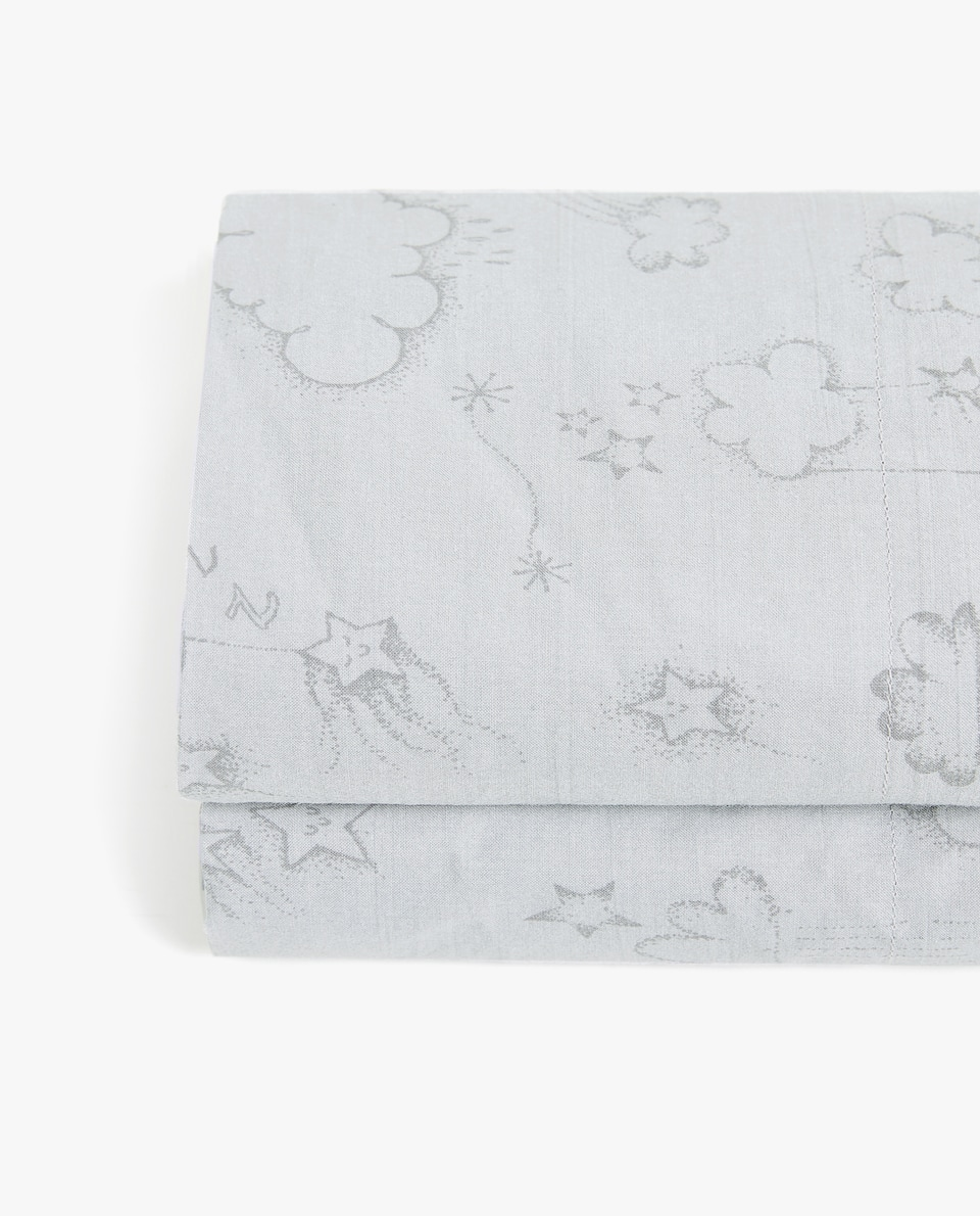 SUN AND CLOUDS PRINT FLAT SHEET