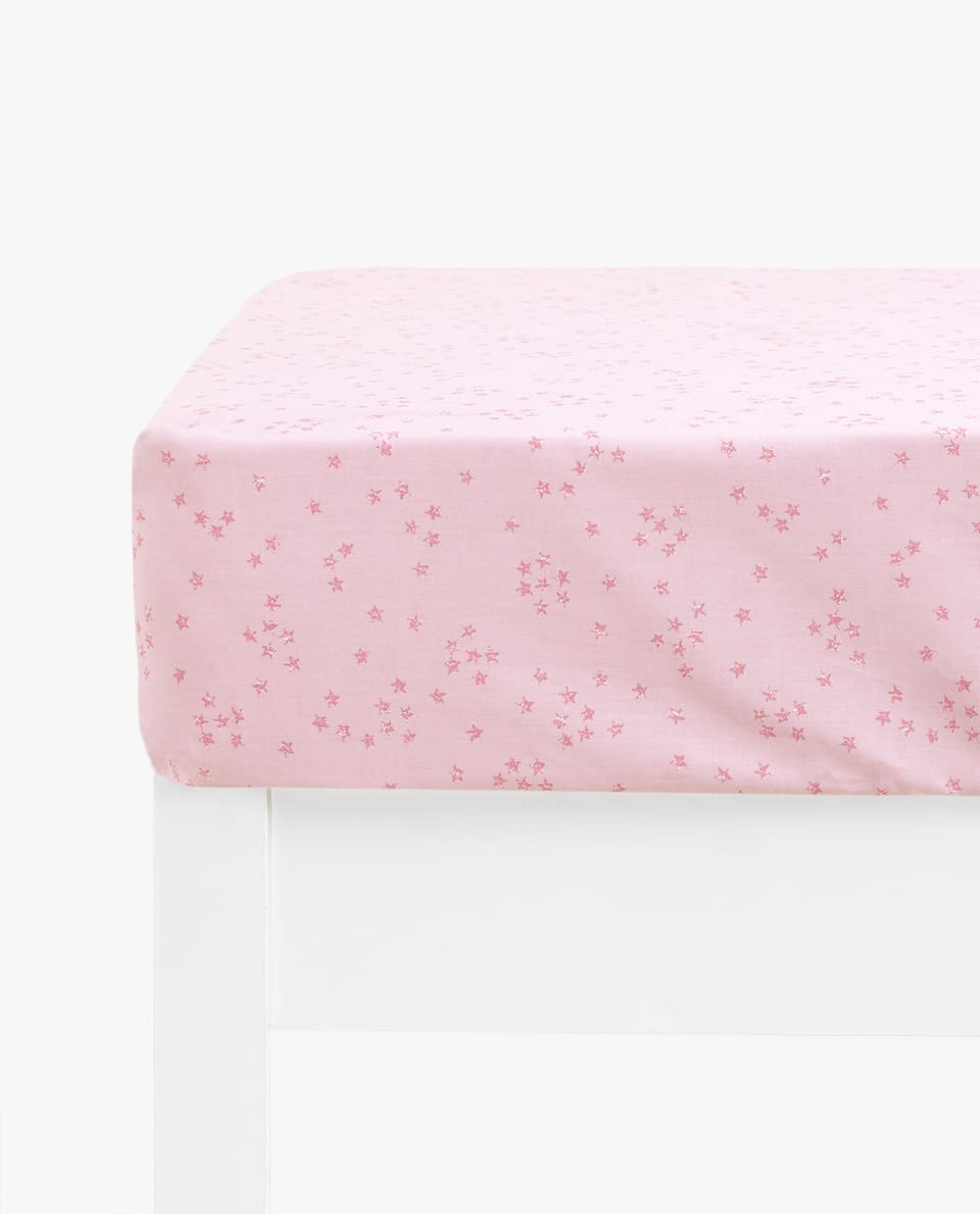 STAR PRINT FITTED SHEET