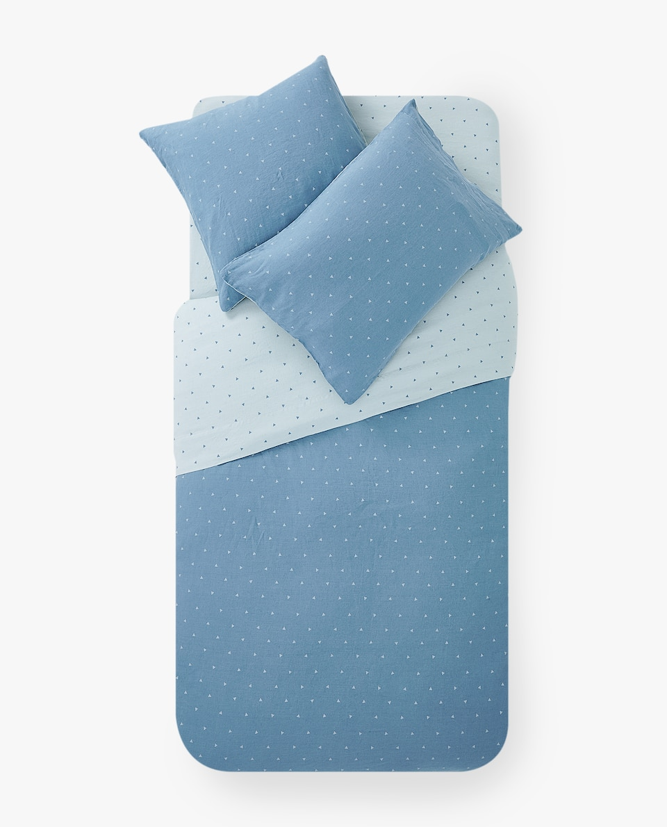 TRIANGLE PRINT DUVET COVER