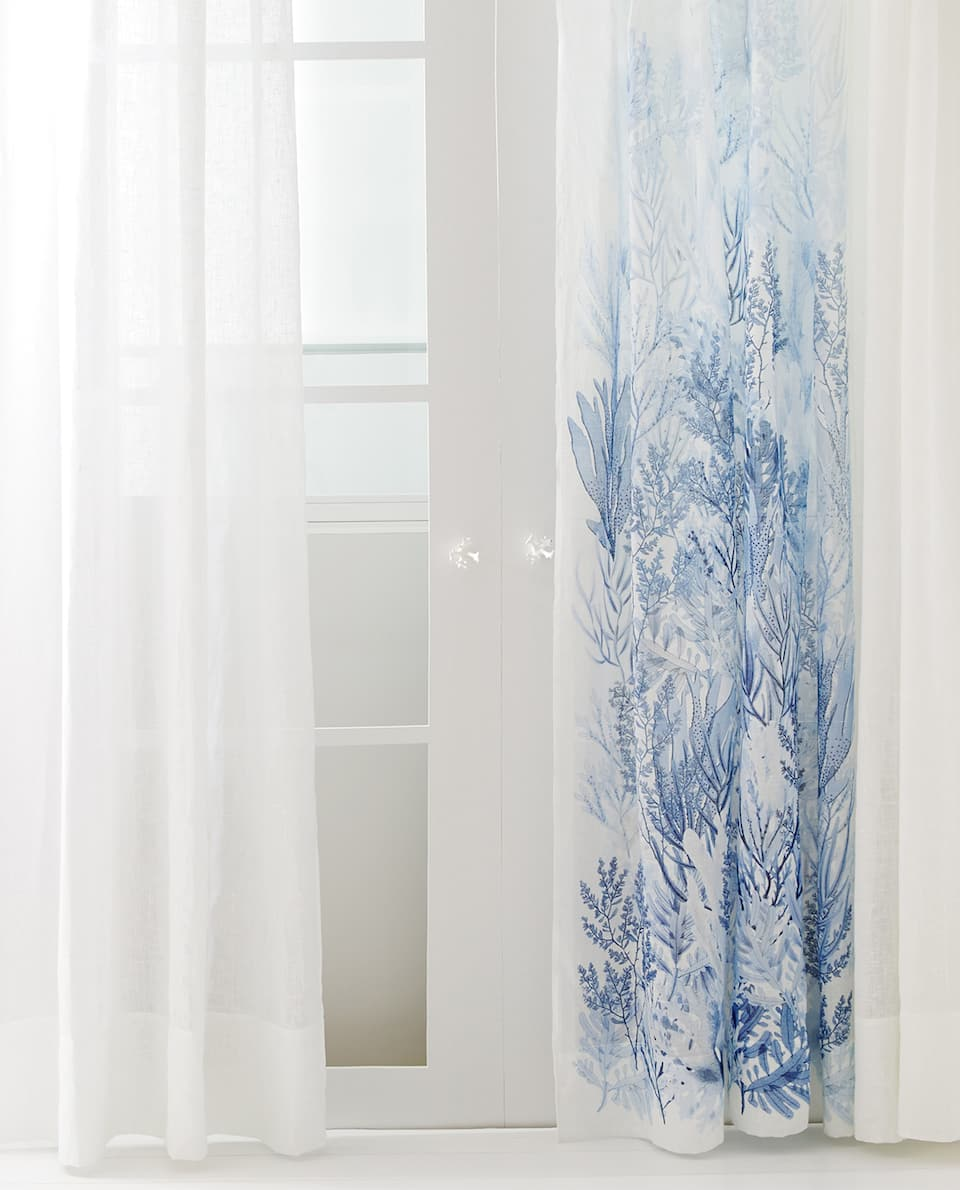 SPECIAL COLLECTION CORALS LINEN CURTAIN