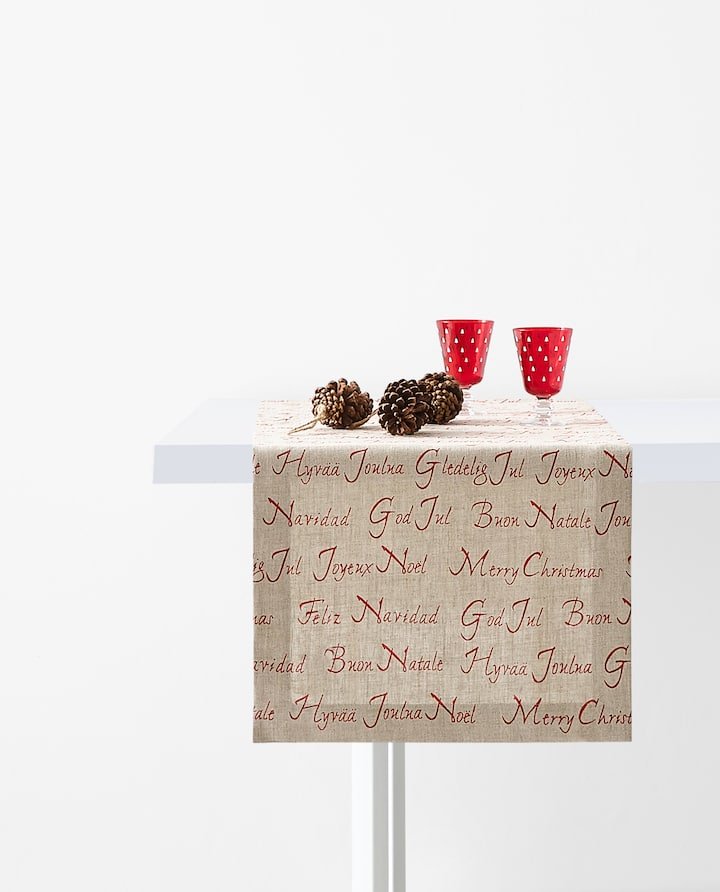 Image Of The Product Slogan Print Table Runner