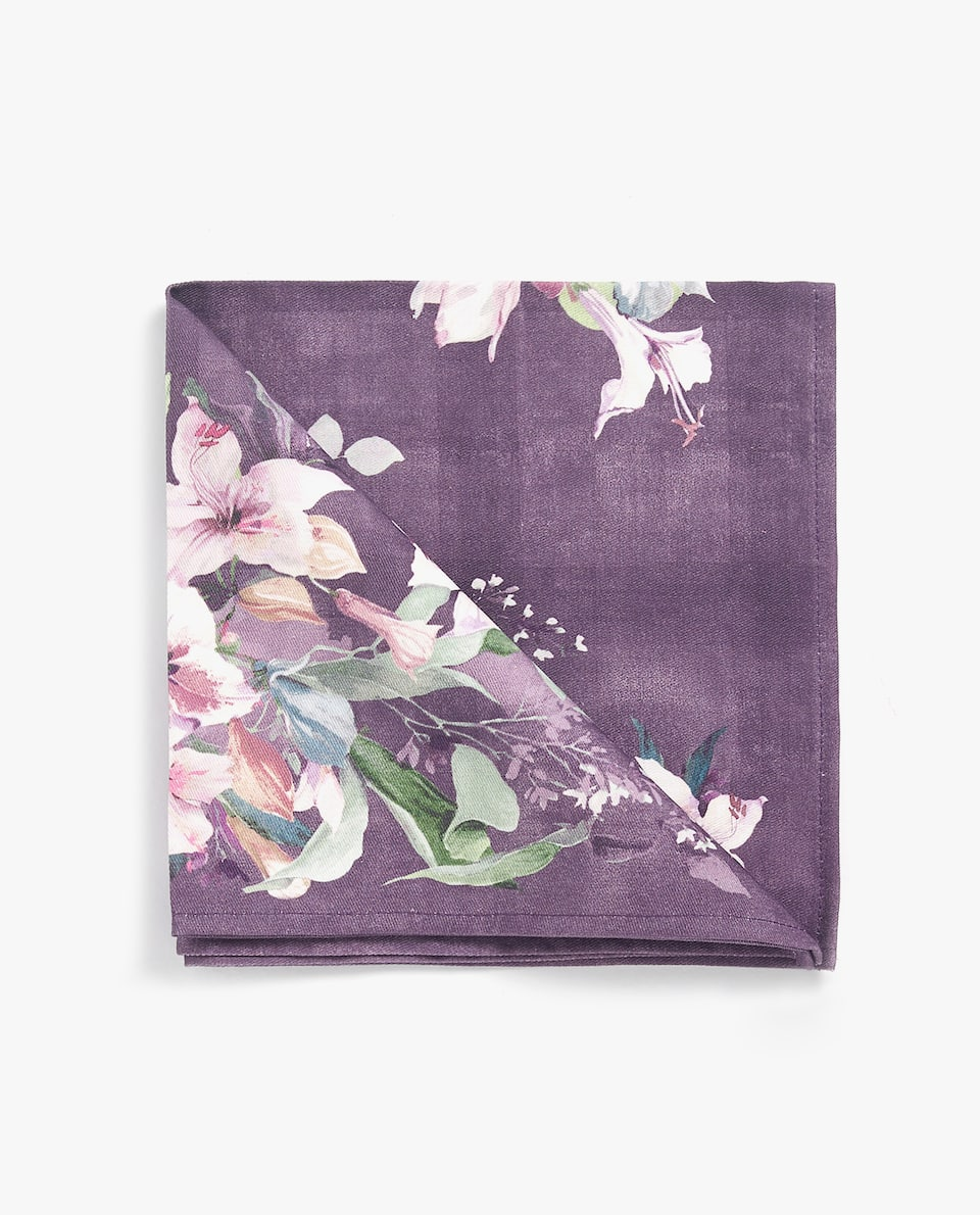 DIGITAL FLORAL PRINT NAPKIN (PACK OF 4)