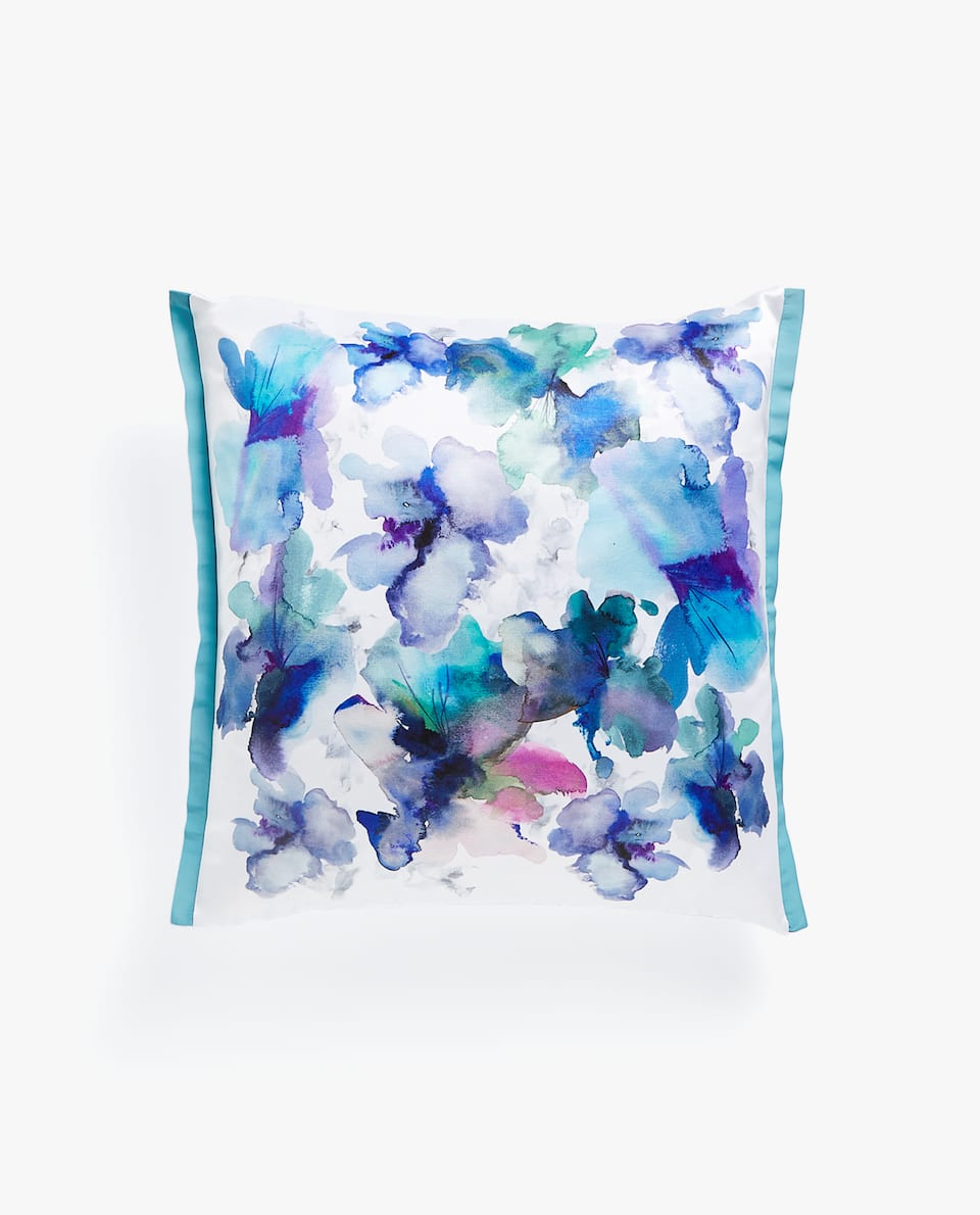 WATERCOLOUR FLOWER CUSHION COVER