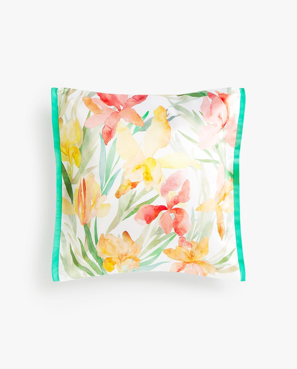 TULIP PRINT CUSHION COVER