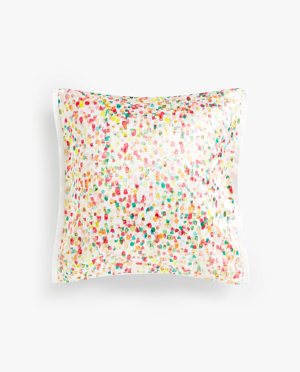 MULTICOLOURED DOTTED CUSHION COVER