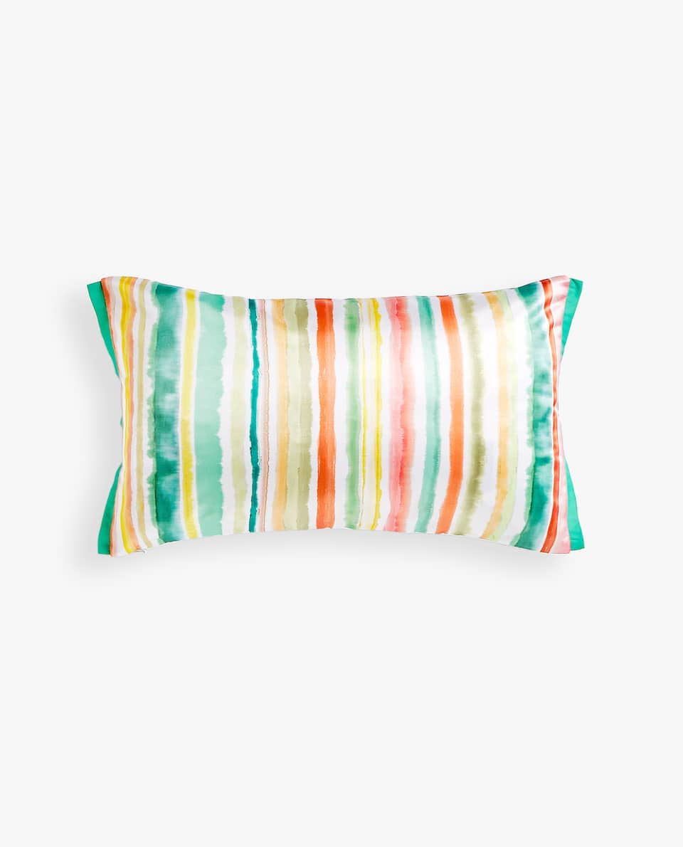 MULTICOLOURED STRIPED CUSHION COVER