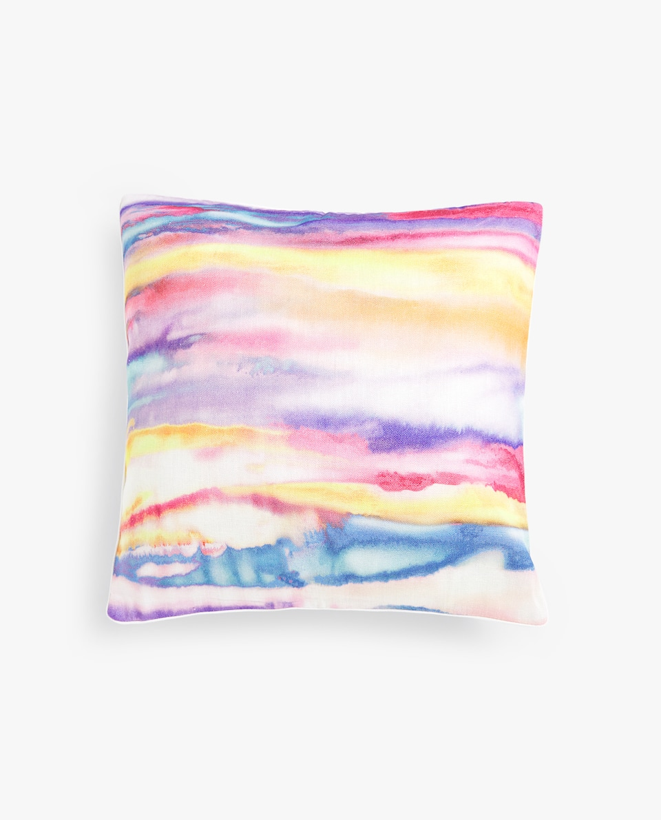 BRUSHSTROKE-EFFECT CUSHION COVER