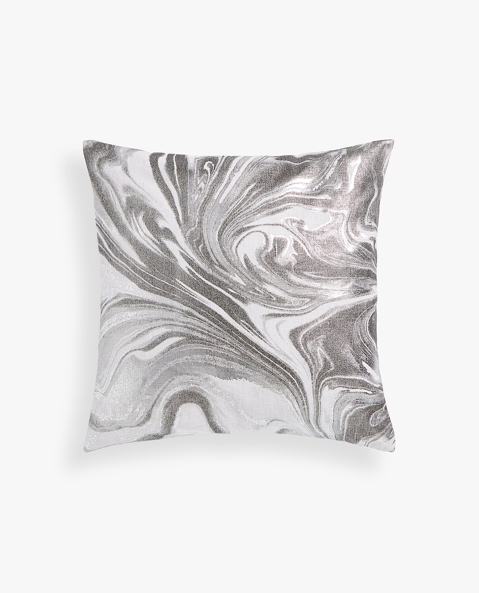 MARBLE-EFFECT CUSHION COVER