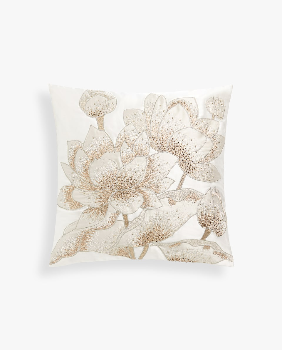 LOTUS FLOWER CUSHION COVER