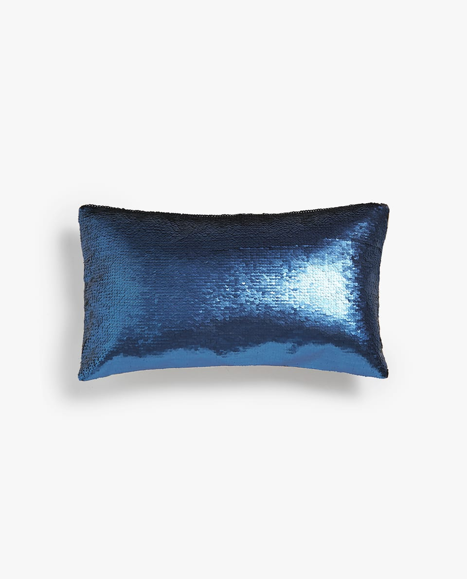 SEQUINNED CUSHION COVER