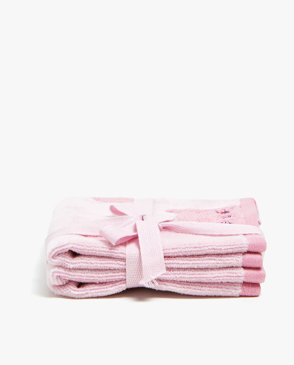 COTTON TOWEL WITH KITTEN DESIGN (SET OF 2)