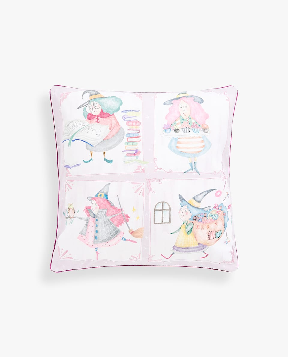 LITTLE WITCH CUSHION COVER