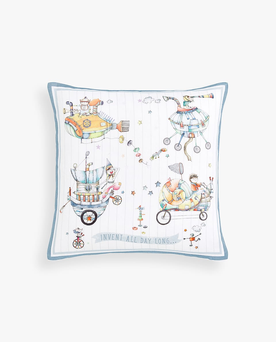 CHILD INVENTORS CUSHION COVER