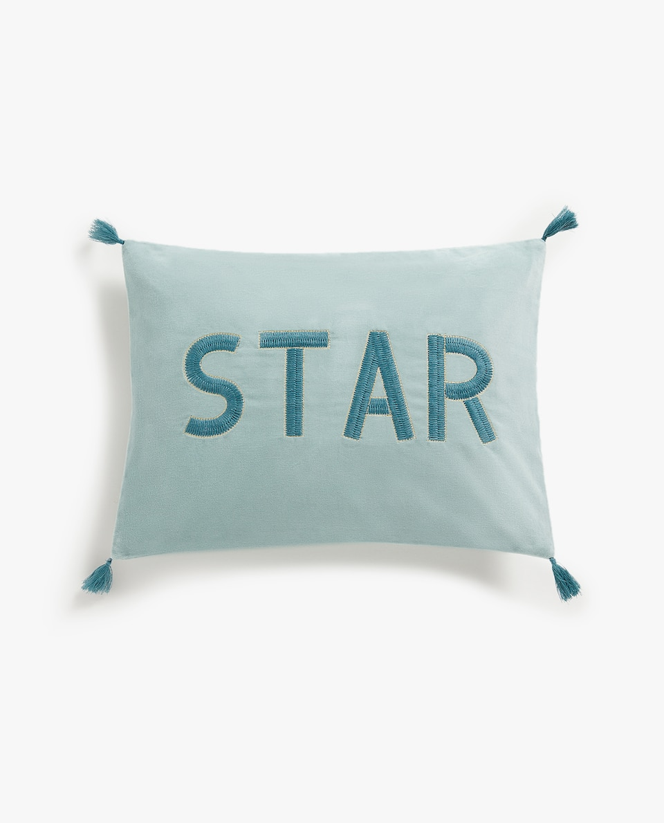 VELVET CUSHION COVER WITH MESSAGE