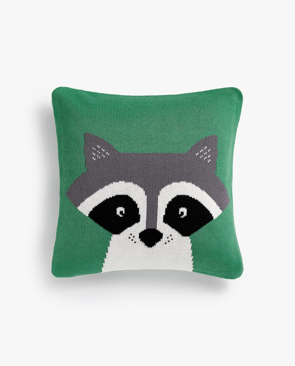 RACCOON CUSHION COVER