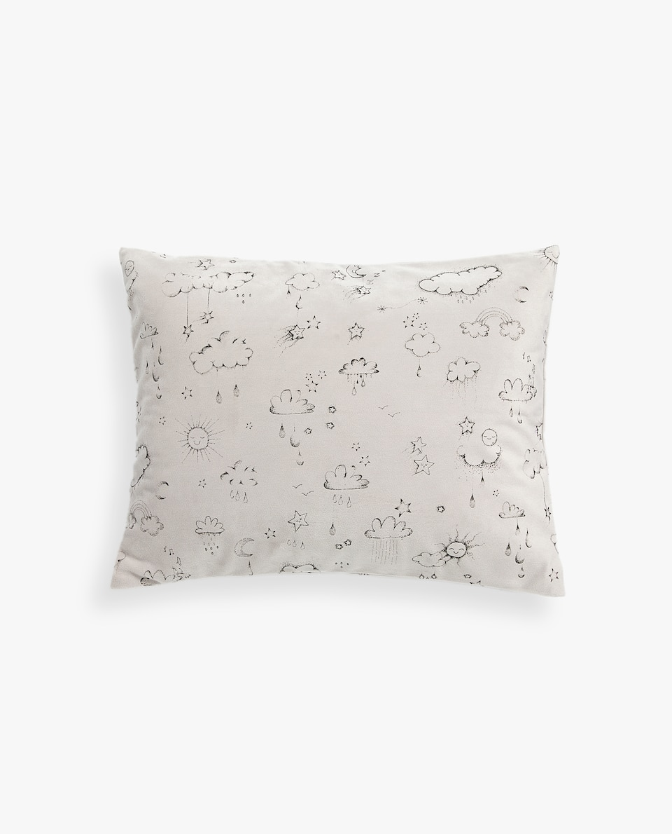 CLOUDS AND MOONS CUSHION COVER