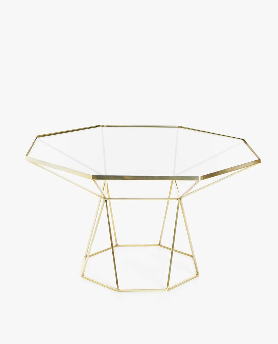 LARGE GOLDEN OCTAGONAL TABLE