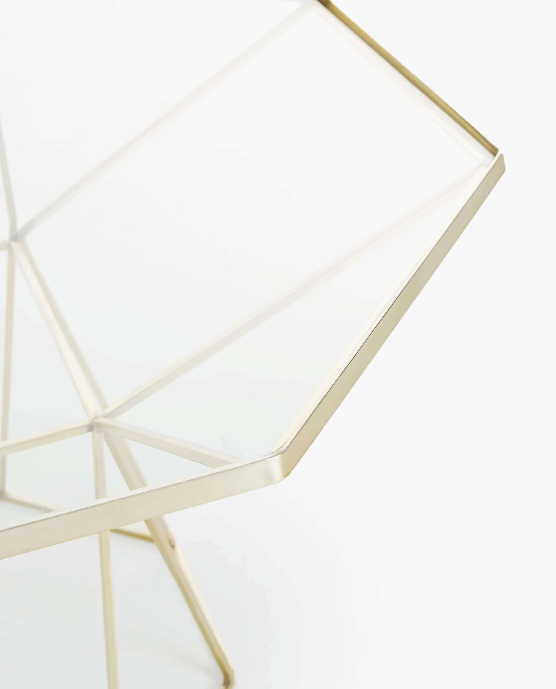 Grosser Goldfarbener Achteckiger Tisch Zara Home Switzerland