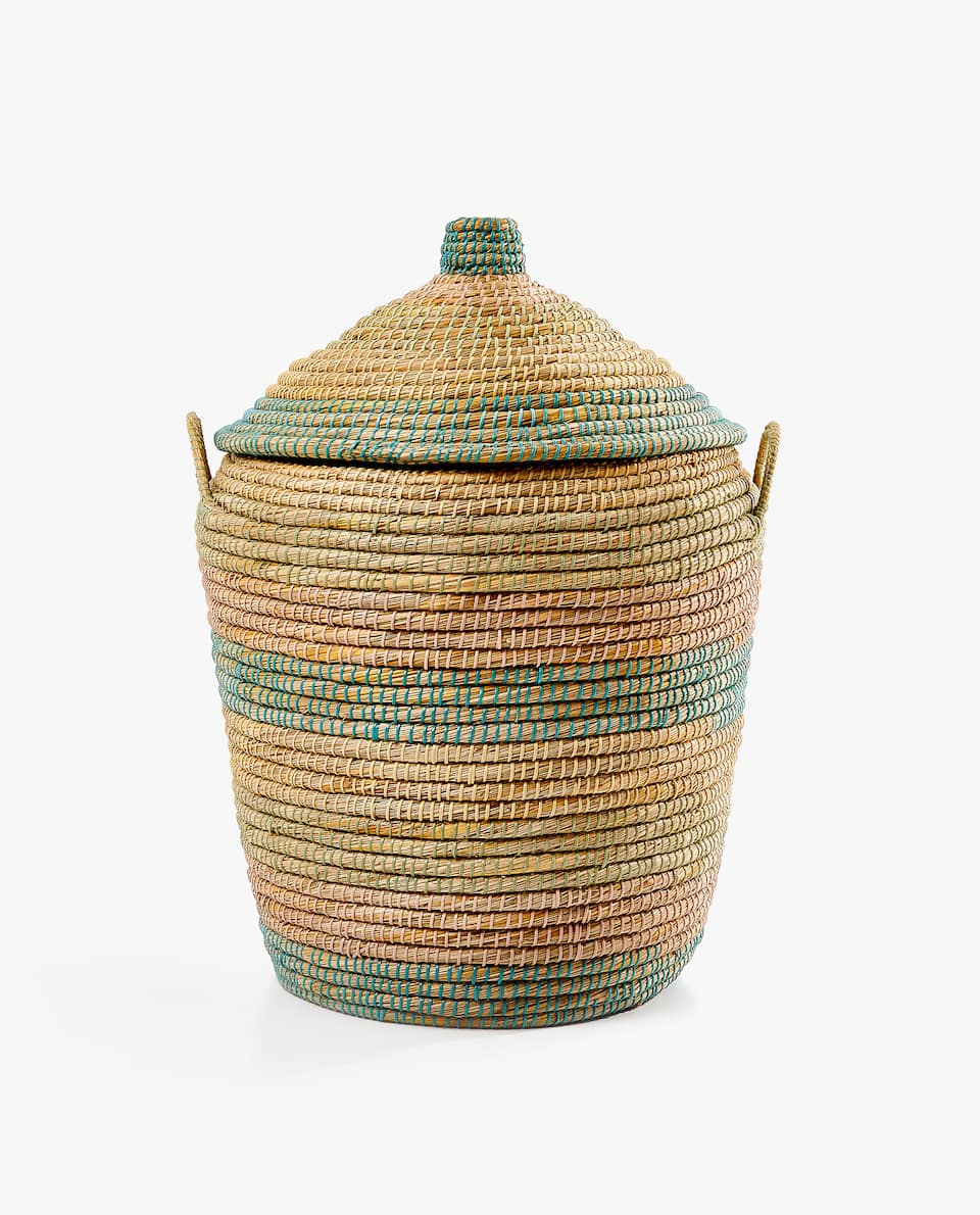 MULTICOLOURED LAUNDRY BASKET