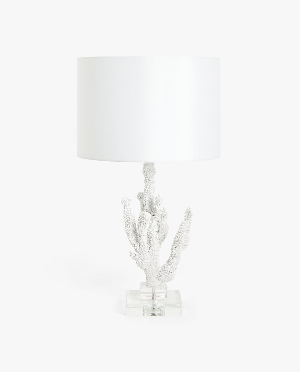 LAMP WITH CORAL-SHAPED BASE