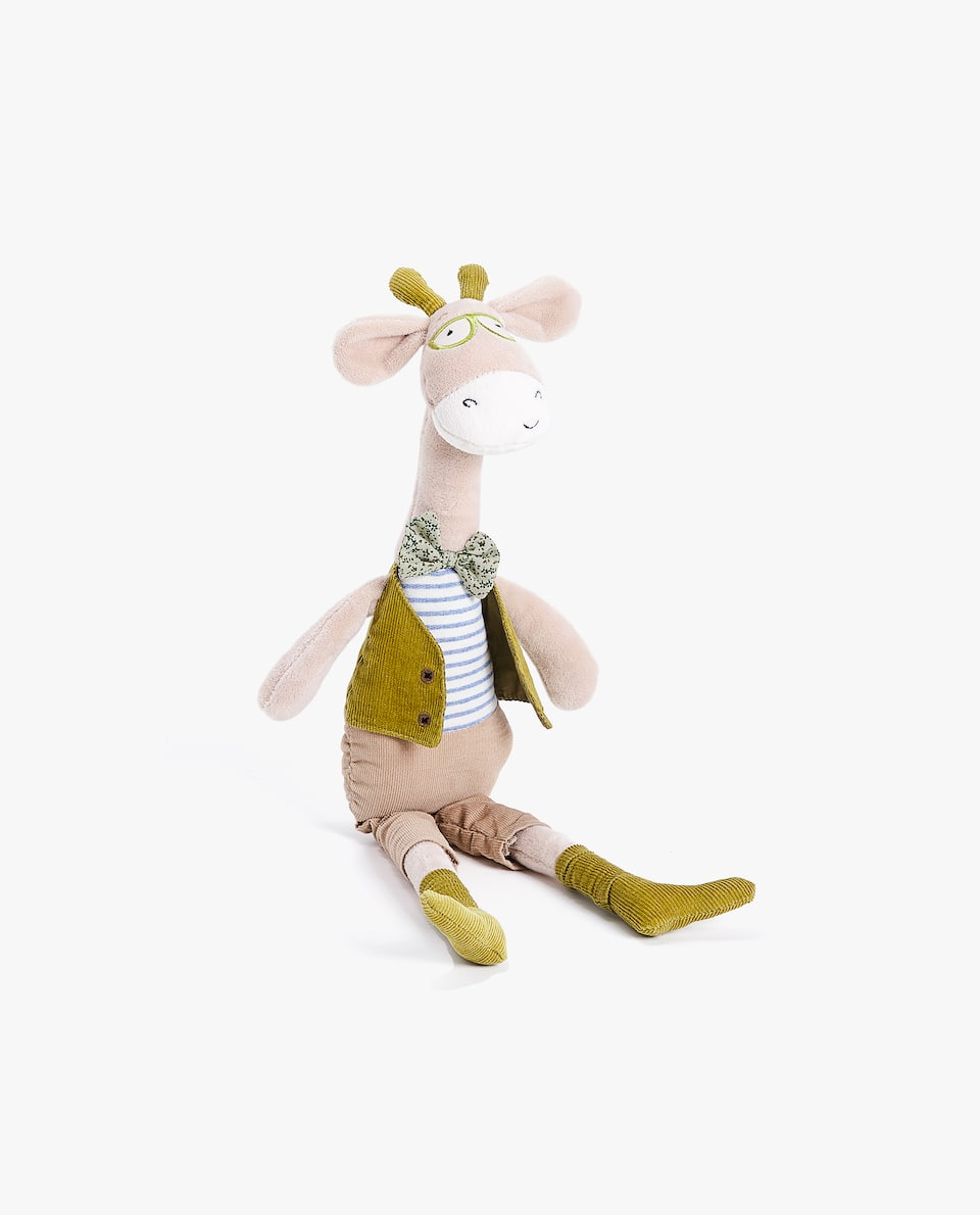 GIRAFFE SOFT TOY WITH TROUSERS