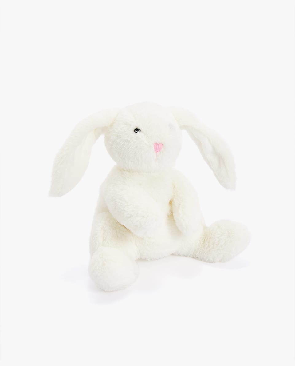 RECLINING RABBIT SOFT TOY