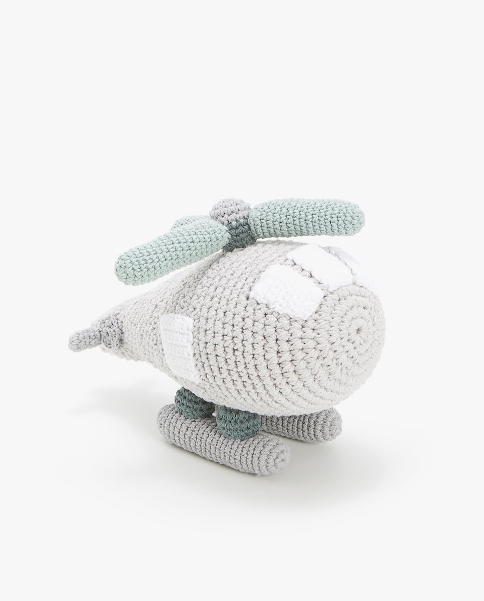 CROCHET HELICOPTER SOFT TOY