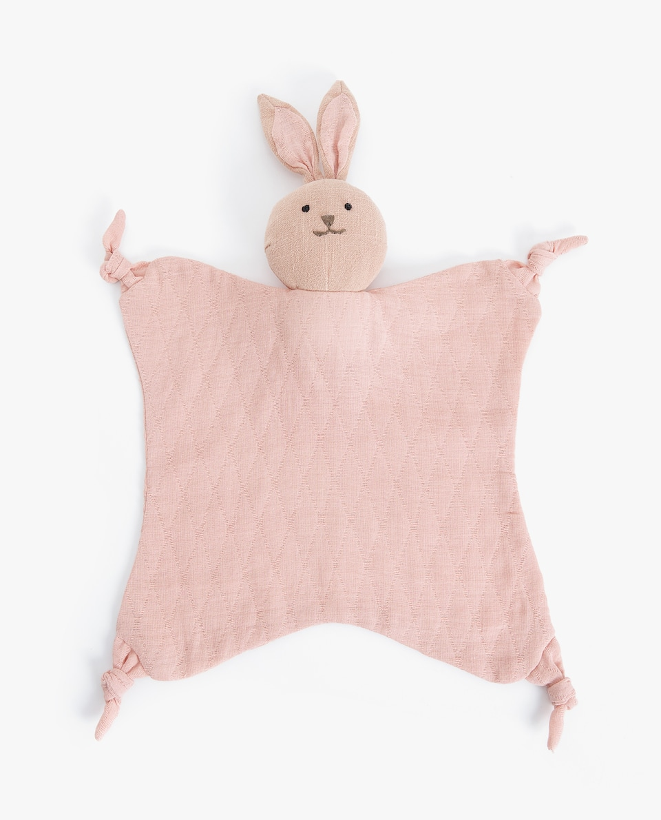 LINEN BUNNY SECURITY BLANKET