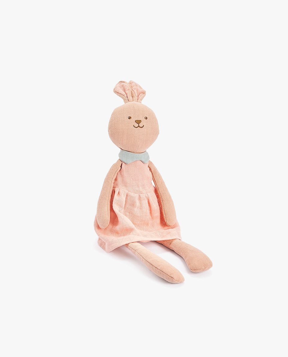 LINEN BUNNY SOFT TOY