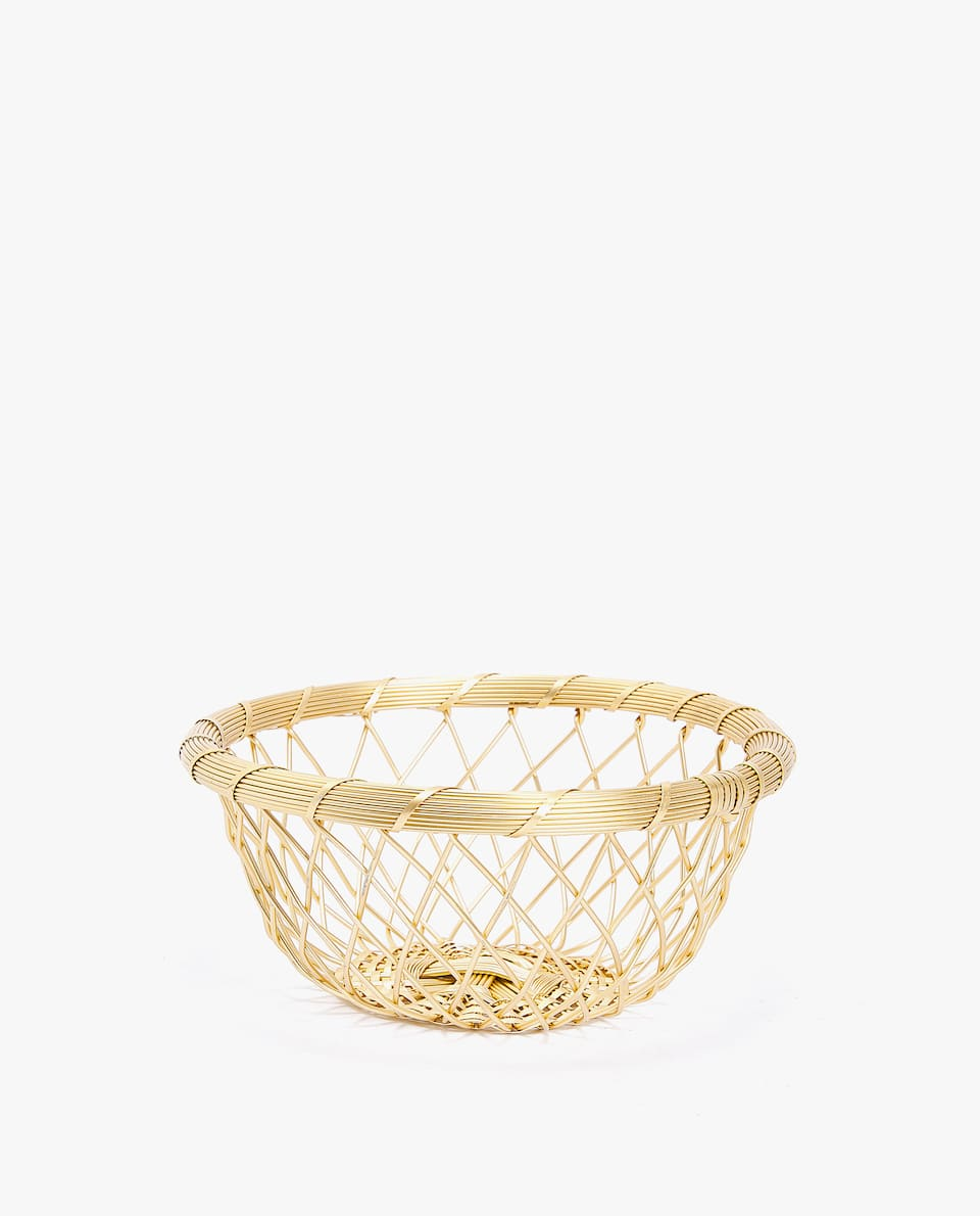 GOLD METAL BASKET