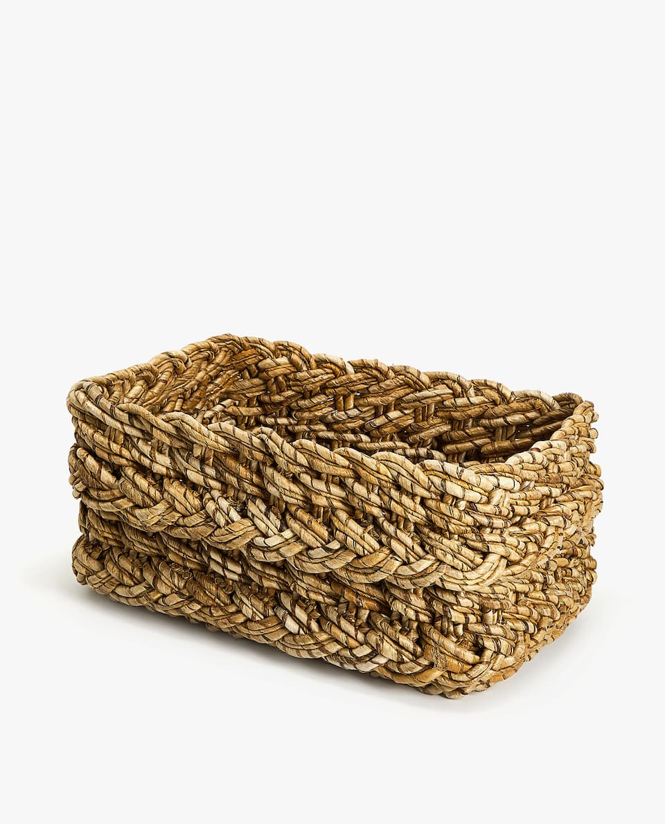 LOW WOVEN BASKET