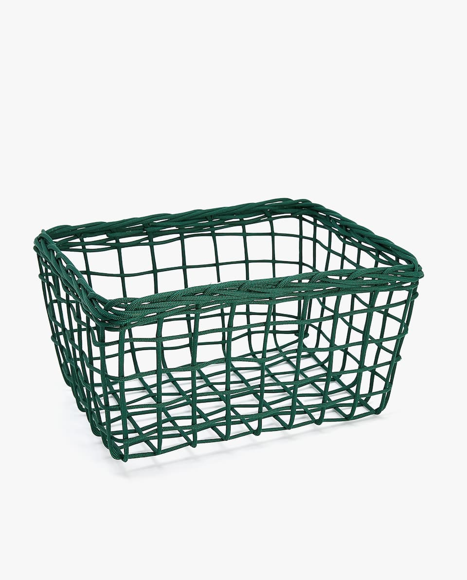 BLACK METALLIC BASKET