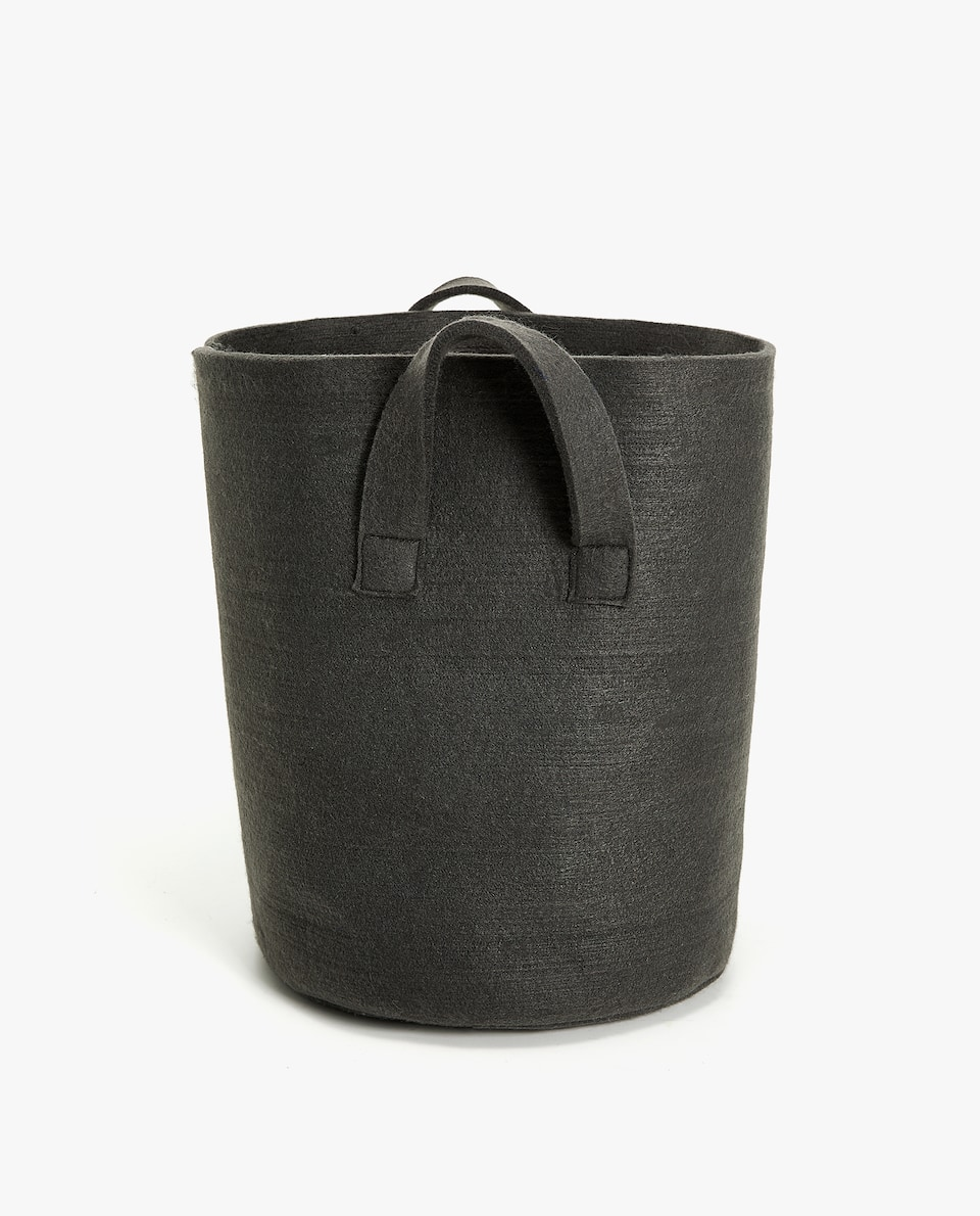 FELT WASTEPAPER BIN WITH HANDLE