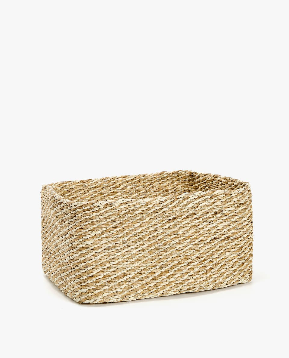 CESTA RECTANGULAR JUTE