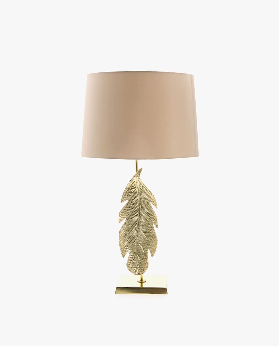 LAMP WITH FEATHER-SHAPED BASE