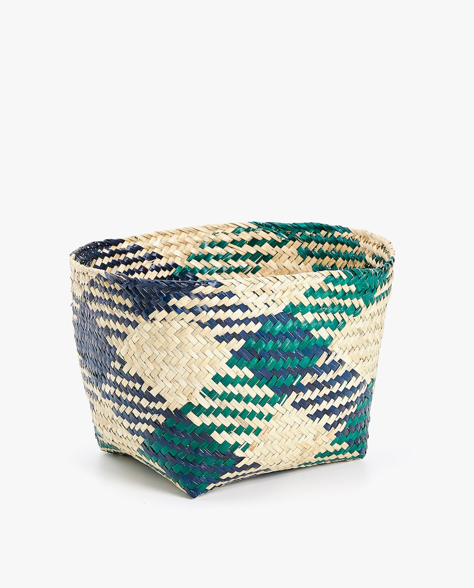 TWO-TONE WASTEPAPER BASKET