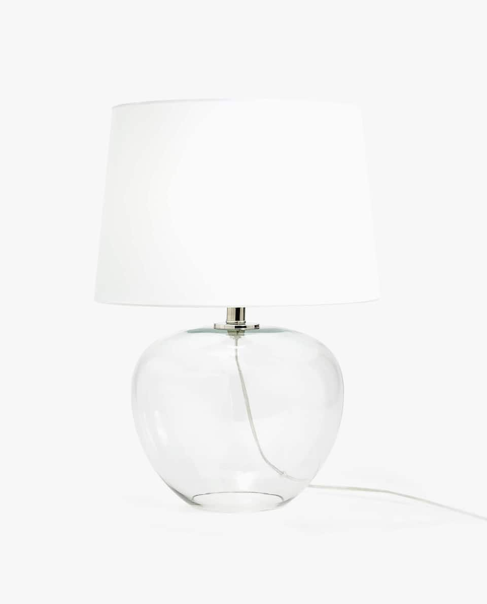 LAMP WITH GLASS BASE
